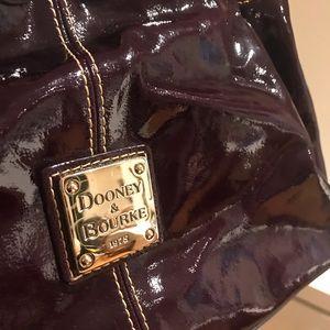 Dooney & Bourke purple patten leather handbag